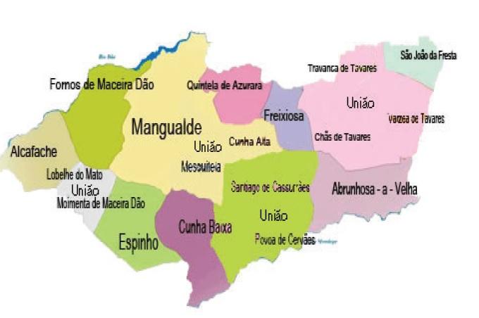 mapa de mangualde Mapa Do Concelho De Mangualde | thujamassages mapa de mangualde